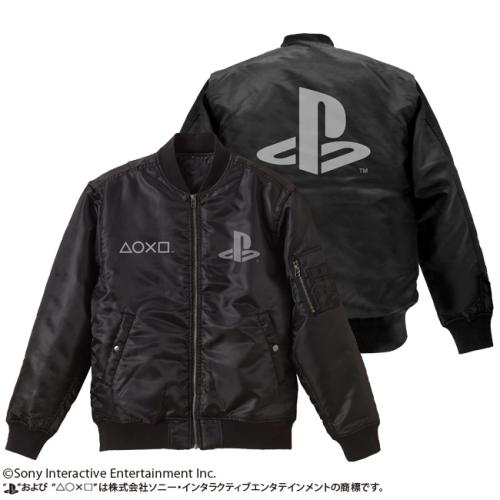 """【送料無料対象商品】コスパ プレイステーション MA-1/""""PlayStation"""" BLACK"""