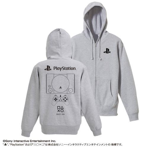 """コスパ プレイステーション ジップパーカー 初代 """"PlayStation"""" MIX GRAY"""
