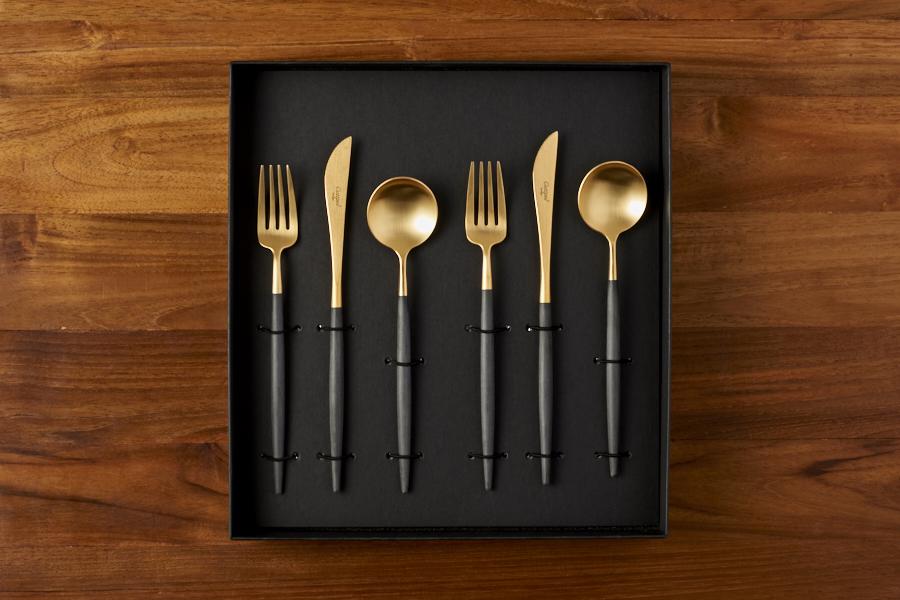 クチポール ゴア マットゴールド デザートセット 6PCS / Cutipol GOA-Gold