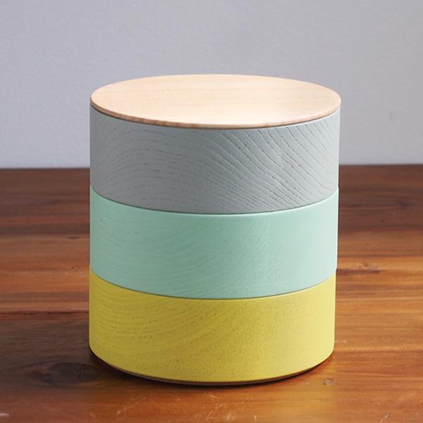 畑漆器店 山中漆器 カラー col. 品質保証 高級 ボーダー 木の器 お重 BODER 小物入れ C001 弁当箱