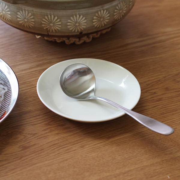 家事問屋 ステンレス一体型 おたま レードル 鍋料理 卓上お玉 海外限定 デポー マット