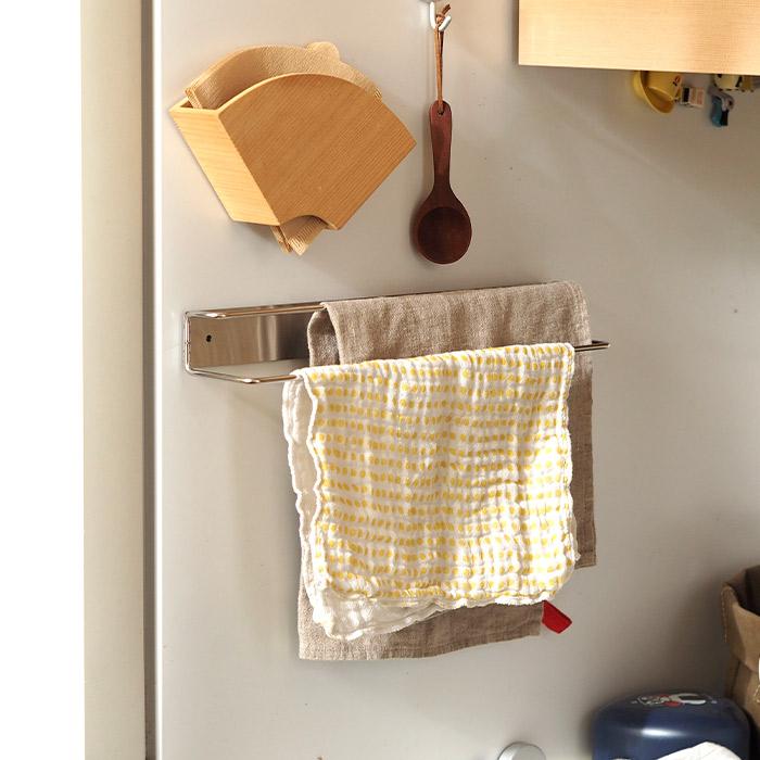 輸入 家事問屋 ステンレス ふきん掛け マグネット 業界No.1 壁付けふきん掛け ネジ式 キッチンタオル 壁面