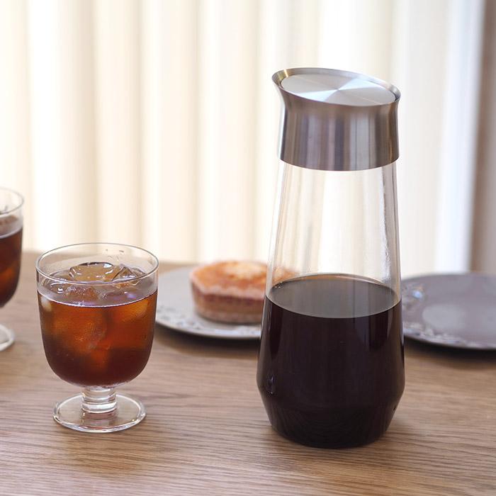キントー KINTO 超激安特価 LUCE ルーチェ コールドブリューカラフェ 1L 通販 激安 水出しコーヒー 水出し緑茶 ジャグ 耐熱ガラス 電子レンジ 食洗機 水出し紅茶