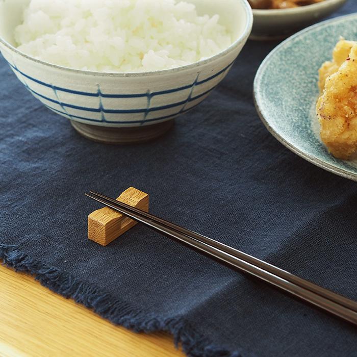 公長齋小菅 竹 木製 箸置き はし置き シンプル 2点までネコポス可 市販 丸 角窓箸置き おもてなし 日本限定
