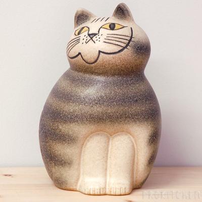リサ・ラーソン ミア ミディアム 190mm グレー / Lisa Larson Cats-Mia