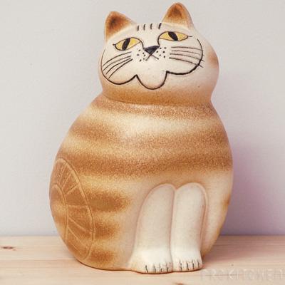 リサ・ラーソン ミア ミディアム 190mm ブラウン / Lisa Larson Cats-Mia
