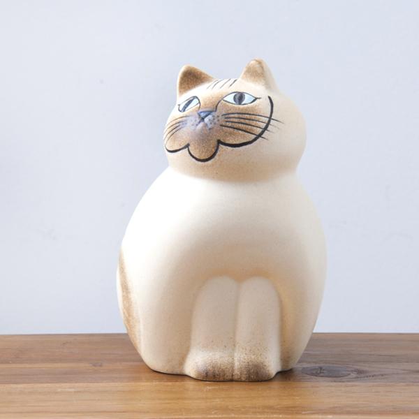 リサ・ラーソン ミア ミディアム 190mm ホワイト・ベージュ / Lisa Larson Cats-Mia