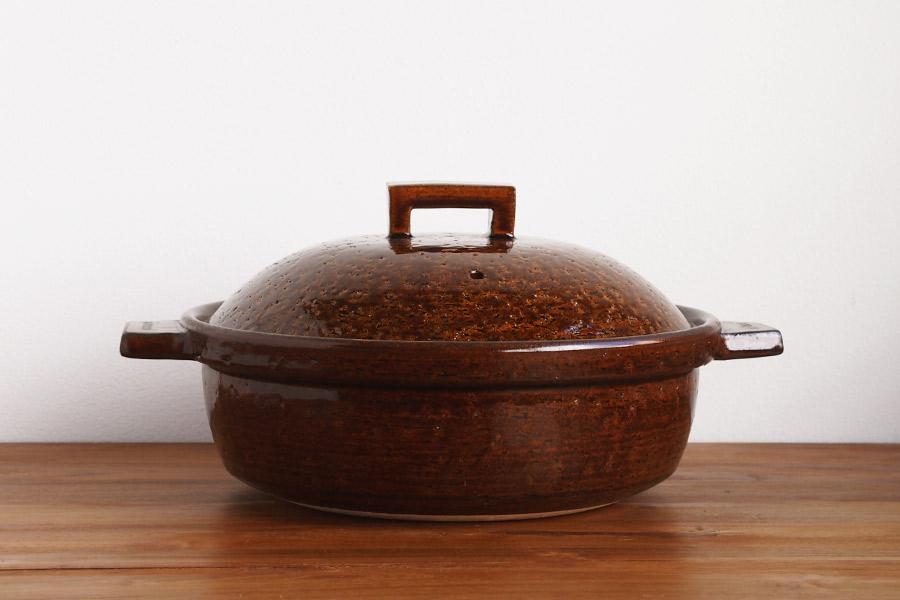 長谷園 ビストロ蒸し鍋 アメ 大