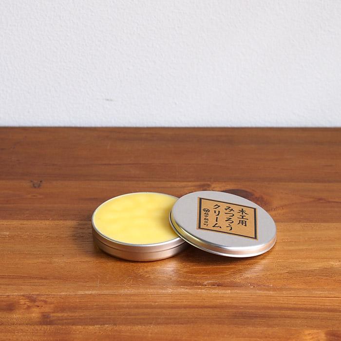 尾山製材 木製品 メンテナンス 手入れ 蜜蝋 ワックス 自然成分 安全 尾山製材 木工用みつろうクリーム 40g 【2点までネコポス可】