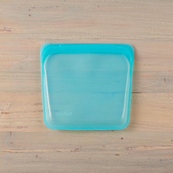 スタッシャー 保存容器 低温調理 エコ素材 シリコン ジッパーバッグ ストックバッグ 冷凍 Mサイズ メーカー公式 2点までネコポス可 サンドイッチ stasher シリコーンバッグ [再販ご予約限定送料無料] アクア 冷蔵