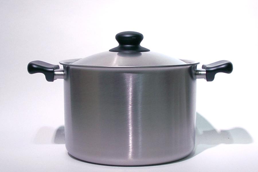 柳宗理 ステンレス・アルミ3層鋼両手鍋 深型 22cm つや消しIH対応 / Sori Yanagi