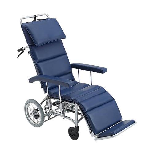 フルリクライニング車椅子 (介助式/アルミ製/座幅460mm/エアータイヤ) MFF-50