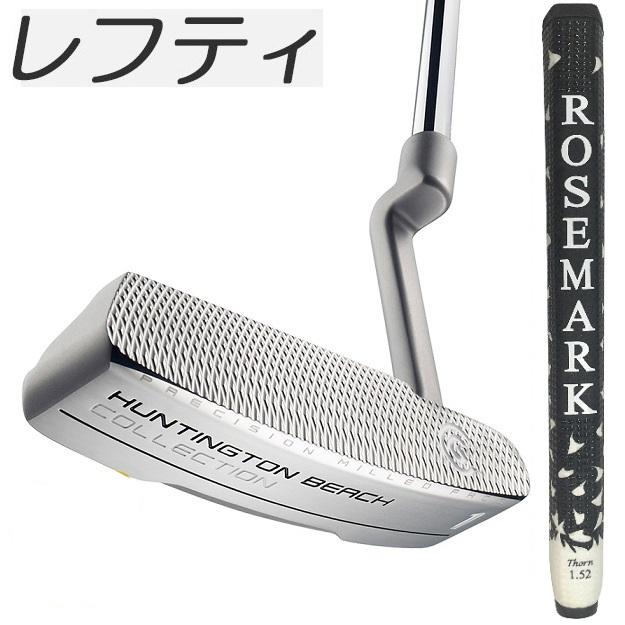 在庫あり!【レフティモデル】Cleveland Golf Huntington Beach 1 Putter Rosemark NexGen Black & White 1.52 Grip クリーブランド ハンティントン ビーチ #1 パター ロズマーク グリップ