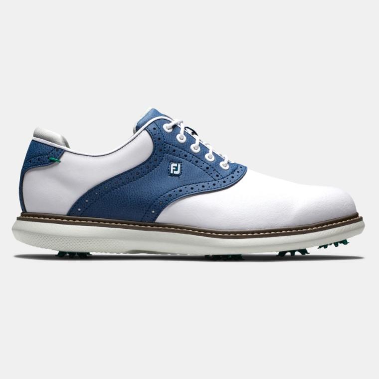 在庫あり FootJoy Traditions 返品不可 Golf 贈答品 Shoes - White Navy フットジョイ 26.0cm ゴルフ Wide トラディションズ シューズ 8.0