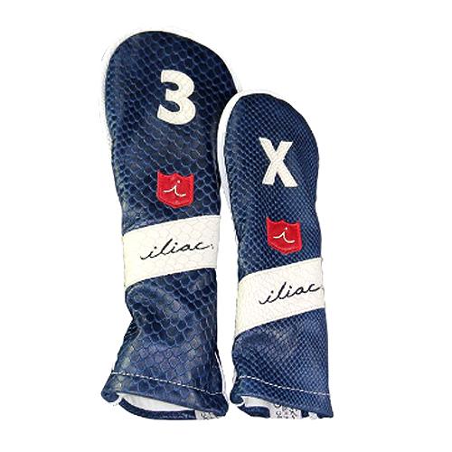 iliac golf The New Royal 3Wood,5Wood,Hybrid Headcover (Navy Boa/Chalk Boa/iliac Script) イリアック ゴルフ ニューロイヤル 3ウッド 5ウッド ハイブリッド用 ヘッドカバー