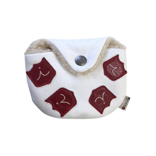 iliac golf Dancing Chest Mallet Putter Headcover (Pure White) イリアック ゴルフ ダンシング クレスト マレット パターカバー ピュアホワイト