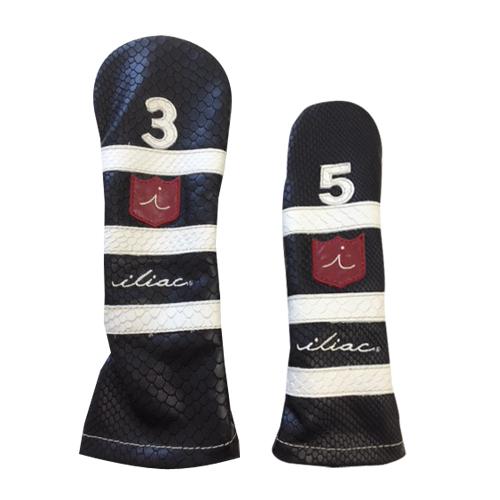 iliac Golf PoloII Fairway Wood Headcover(Black Boa / Chalk Boa / iliac Script) イリアック ゴルフ ポロII フェアウェイウッド ヘッドカバー