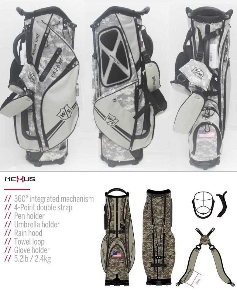Wilson Staff Nexus Carry Golf Bag Camoウィルソンスタッフ ネクサス キャリー ゴルフ バッグ|プロラインGolf