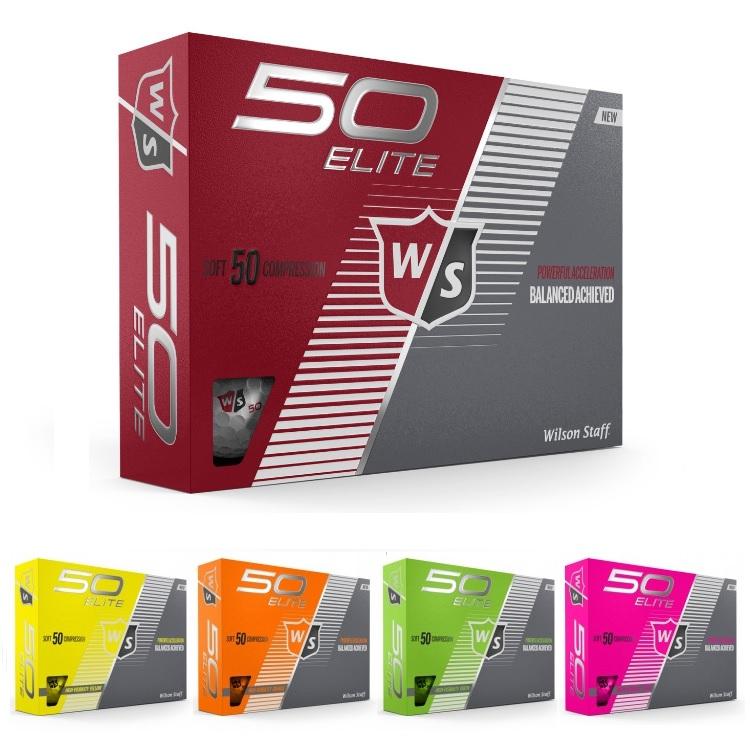 日本未発売 Wilson Staff 期間限定の激安セール Fifty Elite Golf Balls ウィルソン フィフティ 定番から日本未入荷 エリート スタッフ 1ダース ゴルフボール