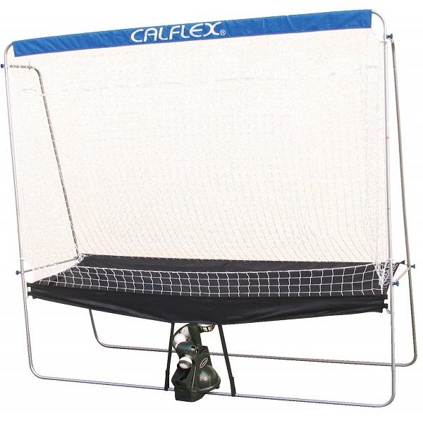 送料無料CALFLEX・カルフレックス テニスセルフトレーナー連続ネット ctn-011(ソフトテニス ジュニア 硬式テニス テニストレーナー ネット 練習 トレーニング 練習器具)