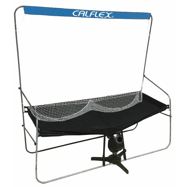 送料無料CALFLEX・カルフレックス テニスセルフトレーナー連続ネット ctn-012(テニス 練習 ネット テニスネット 防球ネット 硬式テニス 練習器具)