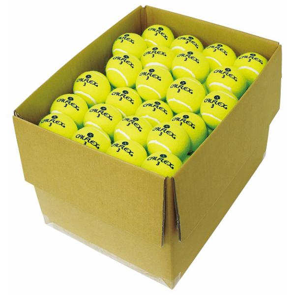 あす楽 送料無料 CALFLEX・カルフレックス 硬式テニスボール 100球入り LB-410 (テニス ボール 硬式 硬式テニス 硬式テニスボール ノンプレッシャーボールまとめ買い 部活 チーム)