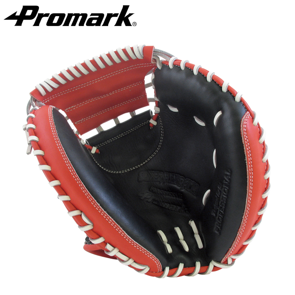 あす楽 送料無料 PROMARK・プロマーク 野球グローブ PCM-9793 (プロマーク 野球 グローブ 軟式用 グラブ 一般用 軟式グラブ キャッチャーミット 捕手用 ブラック×レッドオレンジ)