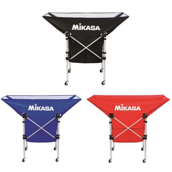ミカサ【MIKASA】携帯用折り畳み式舟型ボールカゴ (フレーム・幕体・キャリーケース3点セット)AC-BC210 ブラック/ブルー/レッド