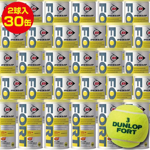 【お買い得】 DUNLOP(ダンロップ) FORT(フォート) 2球入30缶 2箱(60球x2箱) DFDYL2 (ボール テニス用品 スポーツ用品 球 硬式テニス ) 1005_flash 02P03Dec16