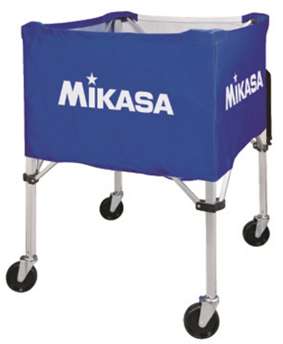 【MIKASA】ミカサ バレーボールカゴ(67×67×107cm) 3点1セット(フレーム・幕体・キャリーケース) ブルー/イエローbc-sp-hl bl-y 02P03Sep16