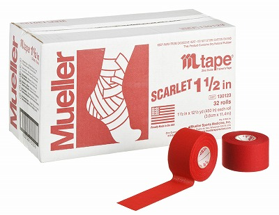 【ミューラー MUELLER】 Mテープ チームカラー スカーレット 38mm 1箱(32個入り) 1005_flash 02P03Dec16