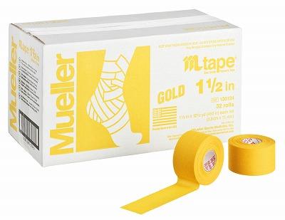 【ミューラー MUELLER】 Mテープ チームカラー ゴールド 38mm 1箱(32個入り) 1005_flash 02P03Dec16