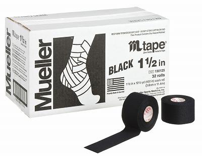 【ミューラー MUELLER】 Mテープ チームカラー ブラック 38mm 1箱(32個入り) 1005_flash 02P03Dec16