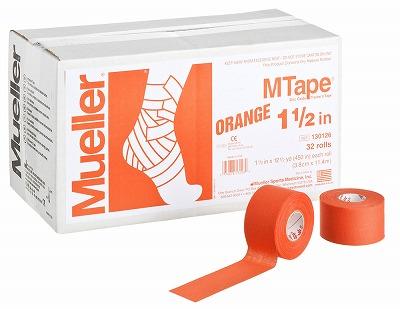 【ミューラー MUELLER】 Mテープ チームカラー オレンジ 38mm 1箱(32個入り) 1005_flash 02P03Dec16