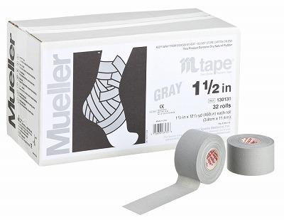 【ミューラー MUELLER】 Mテープ チームカラー グレー 38mm 1箱(32個入り) 1005_flash 02P03Dec16