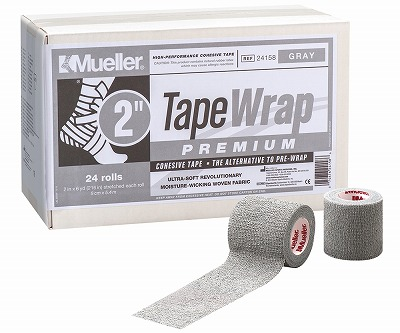 【ミューラー MUELLER】 テープラップ プレミアム グレー 50mm 1箱(24個入り) 1005_flash 02P03Dec16
