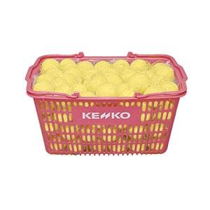 【KENKO 健康】ケンコー ソフトテニスボール 練習球黄10ダース入り かご入りセット (テニス用品 球 ボール 軟式テニス) 1005_flash 02P03Dec16