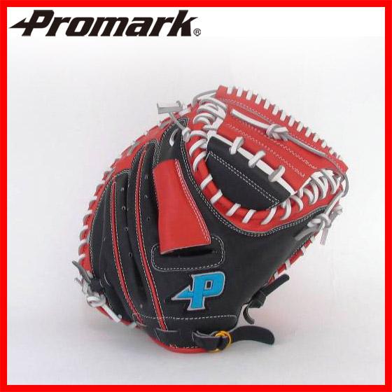送料無料PROMARK・プロマーク 野球グローブ PCM-9783(野球 グローブ 軟式 一般 キャッチャーミット ブラック×レッドオレンジ)