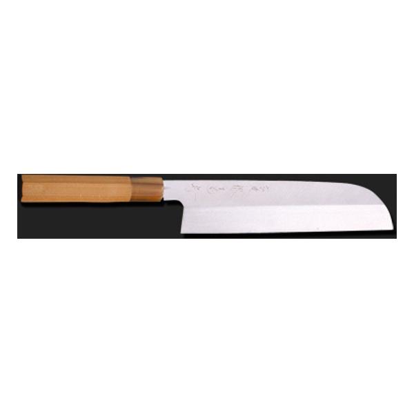 堺菊守 和包丁 本焼 (水牛八角柄) 鎌型薄刃 (関西型) 240mm 業務用包丁