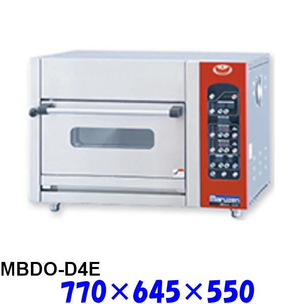 フジサワ・マルゼン ベイカーシェフ ミニ・デッキオーブン MBDO-D4E デラックスタイプ (炉床鉄板,加湿装置あり)
