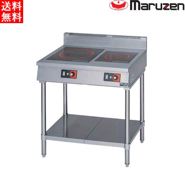 マルゼン 電磁調理器 MITX-33D IHクリーンテーブル 標準プレート 高機能シリーズ 皿加熱機能 タイマー付