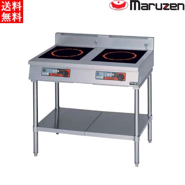 マルゼン 電磁調理器 MITX-SK33D IHクリーンテーブル 耐衝撃プレート 高機能シリーズ 皿加熱機能 タイマー付 インジケーター付