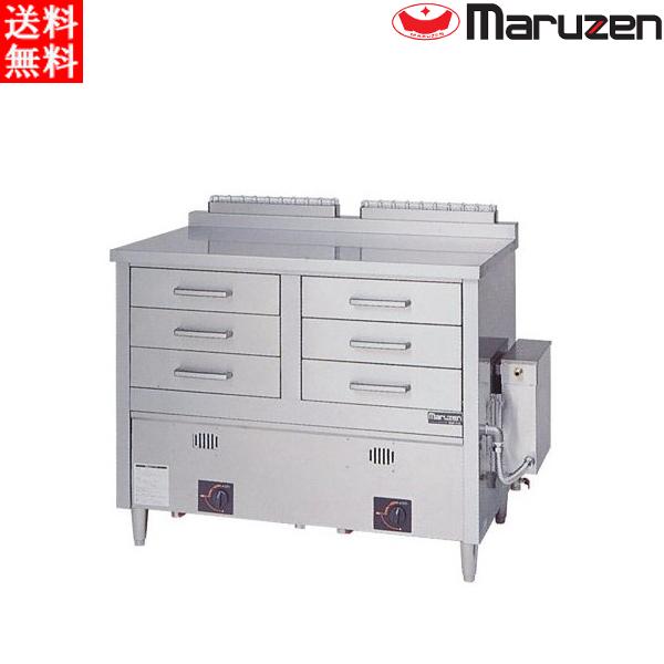 マルゼン ガス蒸し器 ドロワータイプ 標準仕様 2槽式 引出し6個 MUD-23C LPガス(プロパン)仕様 W1330・D750・H985(50)mm
