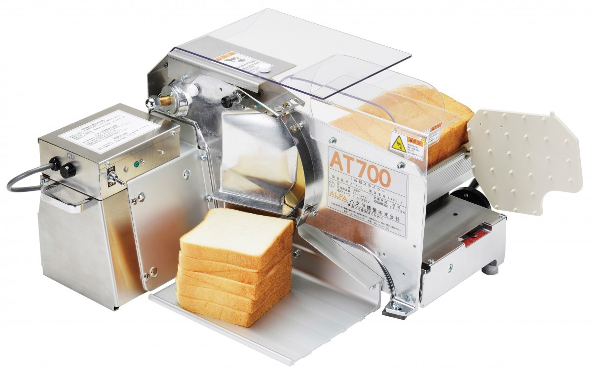 ハクラ精機(株) 1枚切り手動式パンスライサー AT700Z (アルファ70) 丸刃仕様 (食パン)