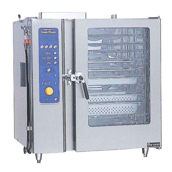 マルゼン ガス式スチームコンベクションオーブン SSCG-06DCNU W1060・D750・H840 LPガス仕様 専用架台なし