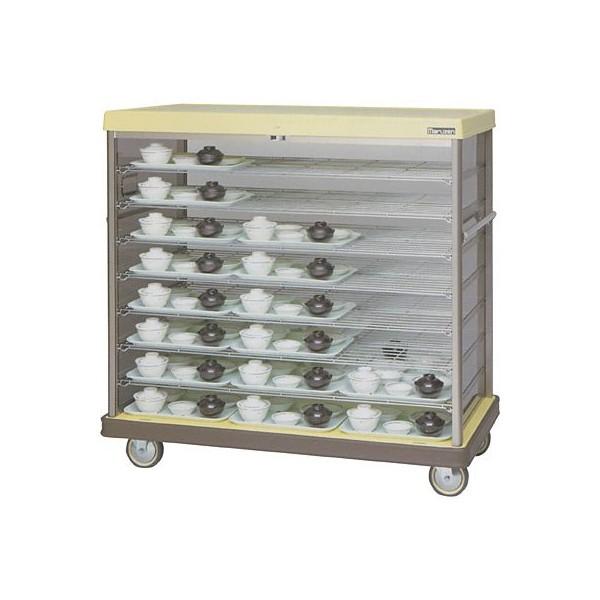 マルゼン 配膳車 MHNW-30 棚網タイプ・ワイドサイズ W1475×D775×H1175 病院・介護・学校・給食