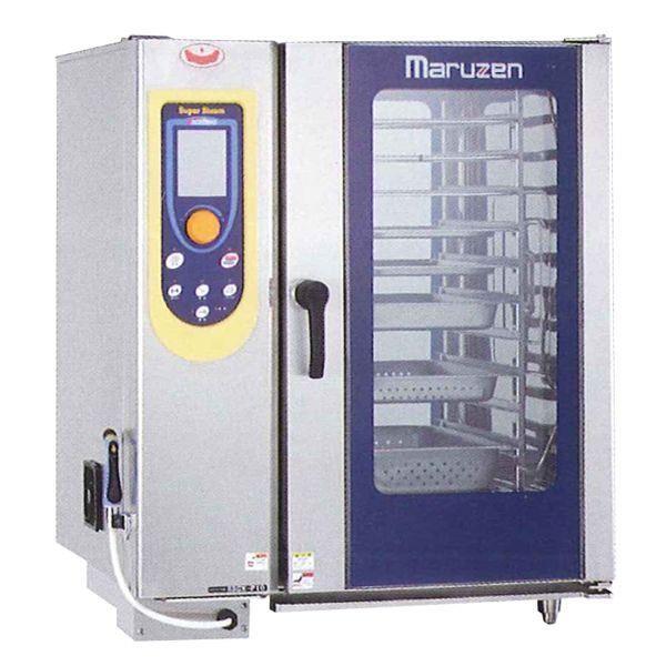 マルゼン 電気式スチームコンベクションオーブン(スーパースチーム) SSCX-P10NU ハンドシャワー巻き取り式