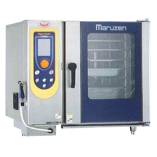 マルゼン 電気式スチームコンベクションオーブン(スーパースチーム) SSCX-06NU ハンドシャワー巻き取り式