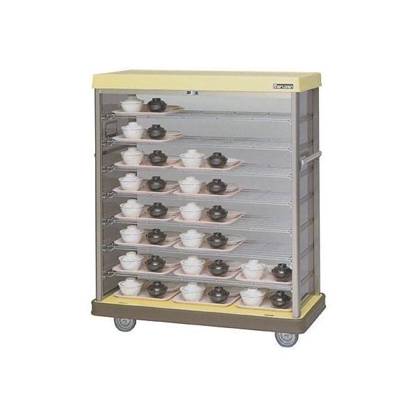 マルゼン 配膳車 MHNH-24 棚網タイプ・ハーフサイズ W1175×D515×H1380 病院・介護・学校・給食