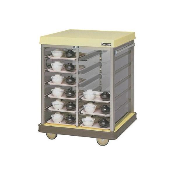 マルゼン 配膳車 MHRC-24S トレイ差込タイプ・コンパクトサイズ W830×D775×H1060 病院・介護・学校・給食